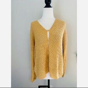 Vintage Eileen Fisher 100% Linen Hand Knit Sweater